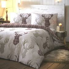 tartan stag natural quilt cover sets affordable with regard to duvet idea 1