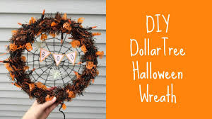 diy halloween wreath tutorial dollar tree youtube