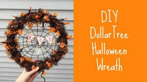 crochet halloween wreath diy halloween wreath tutorial dollar tree youtube