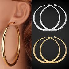 big gold hoop earrings collare big hoop earrings for women gift gold silver color