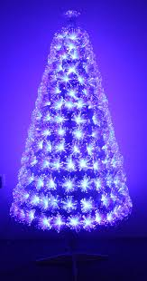 the white blue ripple effect fibre optic tree 4ft to 6ft