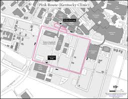 uky map pink route kentucky clinic uk transportation services