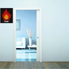 fire resistant glass doors eclisse fire rated sliding pocket door system single fire door