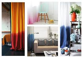 Orange Panel Curtains Diy Dip Dyed Ombre Window Panel Curtains