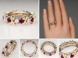 tiffany stone rings images Tiffany co schlumberger 16 stone diamond ruby ring platinum jpg