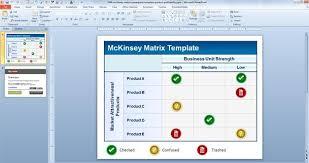 mckinsey business plan template free mckinsey matrix powerpoint