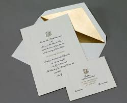 gold wedding programs wedding invitations of new york island plandome paperie