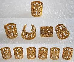 dread lock dreadlocks braiding golden metal