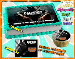 call of duty cake topper call of duty advanced warfare birthday cake topper edible sugar
