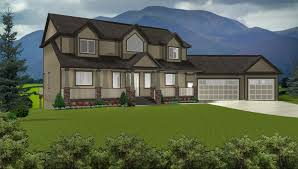 hillside house plans for sloping lots 3 story house plans with walkout basement basement ideas