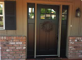 wood glass front doors replacing mahogany door with fiberglass door with two sidelights
