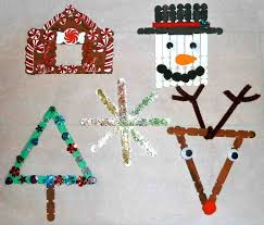 ornaments diy popsicle sticks cheminee website