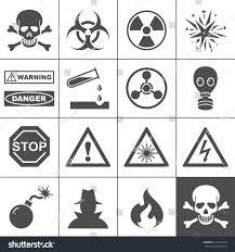danger warning icons simplus series each stock vector 115176310