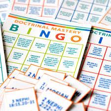seminary doctrinal mastery bingo book of mormon doctrinal