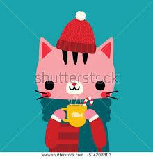 cat winter stock vectors images u0026 vector art shutterstock