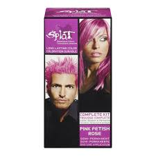 What Does Semi Permanent Hair Color Mean Amazon Com Splat Hair Color Complete Kit Pink Beauty