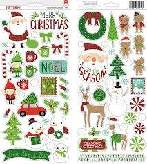 christmas stickers american crafts all wrapped up accents and phrases stickers