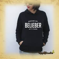 bieber hoodie excuse my belieber attitude buy cheap