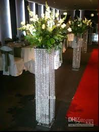 Crystal Wedding Centerpieces Wholesale by White Pillars Stands Flowers For Weddings Floor Standing Wedding