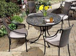 Black Wrought Iron Patio Furniture Sets - patio 22 impressive wrought iron outdoor dining table set