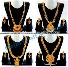 long necklace set images Indian one gram gold long necklace set wholesale south indian jpg