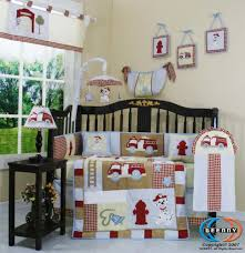 Geenny Crib Bedding Firetruck Themed Nursery Geenny Musical Mobile For Firetruck