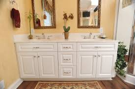 White Cabinet Bathroom Burrows Cabinets Master Bath With - White cabinets bathroom design