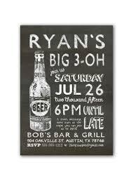 chalkboard beer bottle birthday party invitation u2013 2 bird studios