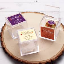 personalized wedding favor boxes falling in personalized acrylic favor box fall theme