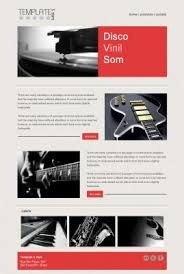 email marketing templates music