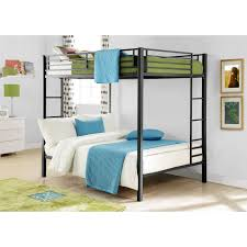 Full Bunk Bed With Desk White Polished Metal Loft Bed Full Size - Queen size bunk beds for adults