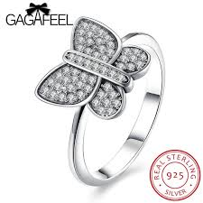 real crystal rings images Gagafeel cute butterfly ring for girl real 925 sterling silver jpg