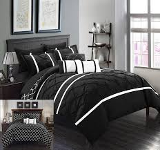 black pinch pleat comforter set u2013 ease bedding with style