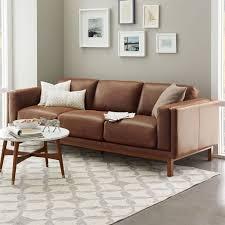 Leather Sofa Brown Dekalb Leather Sofa 85