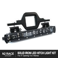 rear race light bar 3 inch tow rear hitch step bar led brake trailer tailgate light