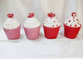 cupcake canisters for kitchen ceramic kitchen canisters hand painted cupcake trinket box hearts design