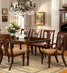 furniture of america voltaire 9 piece formal dining table set with