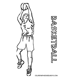 basketball coloring pages printable kids coloring