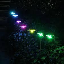 multi colored solar garden lights oxyled solar garden lights 3 pack solar garden stake light