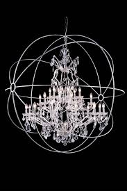 Chandelier Lamp Shades With Crystals Furniture Round Crystal Chandelier Ball Wood Finish Chandelier