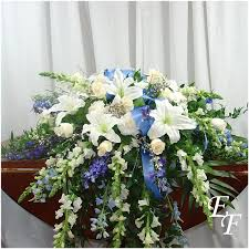 casket spray peaceful blues casket spray ef 207 essex florist greenhouses inc