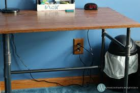 pipe desk with shelves diy industrial pipe desk shelves my husband has too many hobbies