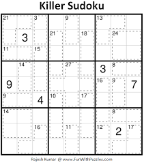 101 games pattern riddle killer sudoku puzzles fun with sudoku 233 234 fun with puzzles