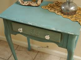 Distressed Table Side Table Flip Distressed With Chalk Paint