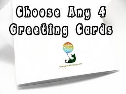 sale set of 4 greeting cards your choice any card custom