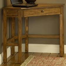 corner desk with rich oak or cherry finish by hillsdale wolf and