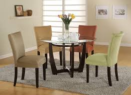 suede dining room chairs dining room beautiful dining room design ideas with round glass