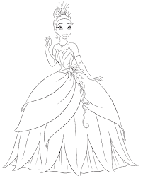 tiana coloring pages chuckbutt