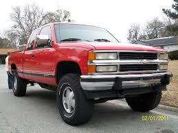 Red Lifted Chevy Silverado Truck - ghghhh 1994 chevrolet silverado 1500 extended cab specs photos