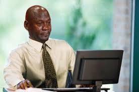 Michael Jordan Meme - crying michael jordan computer blank template imgflip